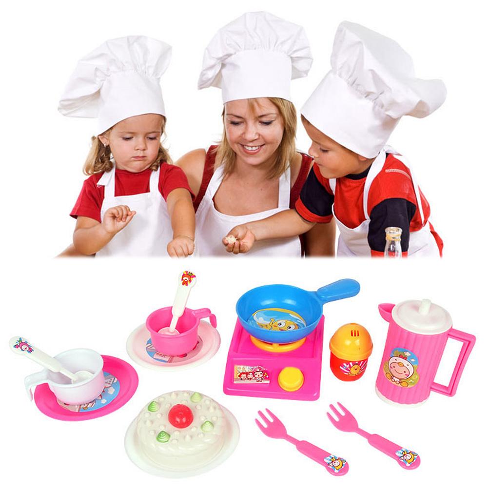 unidsset rosa cocina cocinar alimentos papel juego de imaginacin juguete beb nio juguetes