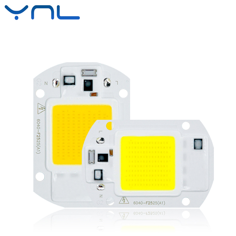 YNL High Power COB LED Chip 220V 240V LED Lamp Bulb 20W 30W 50W Input IP65 Smart IC Outdoor Reflector LED Flood Light chip ynl cob led lamp bulb 50w 30w 20w 220v input led chip smart ic fit no driver high lumens for diy led flood light spotlight