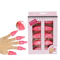 10 Pcs Reusable Plastic Pink Nail Polish Remover Clip Cleaning UV Gel Wrap
