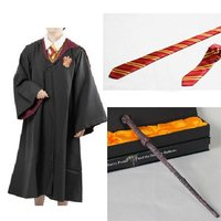 Cheap Adult And Kid Harry Potter Costume Cloak And Tie Magic Wand Form Harry Potter Cosplay