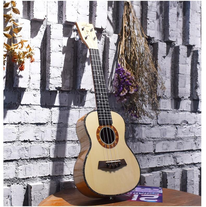 23inch Ukulele Hawaiian Mini Guitar Four Strings Guitarra With Tuner/Bag/Strap/Strings/Picks top quality thicken ukulele bag mini guitar bag cute cat case 21 23 26 inch guitar box cover guitar backpack double strap