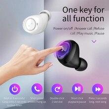 Mini TWS Twins Wireless In-Ear Portable BT4.2 5.0 Call With Charging Bin Earphones Bluetooth earphone with charging cradle YE