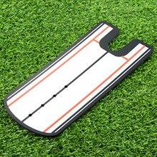 цена Golf Putting Mirror Alignment Training Aid Swing Trainer Eye Line Golf Practice Putting Mirror Large Golf Accessories 31*14.5cm онлайн в 2017 году