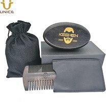 100pcs Customized Your LOGO Fine & Coarse Teeth Ebony Blackwood Combs Hair Boar Bristle Black Wood Beard Brush in Gift Box