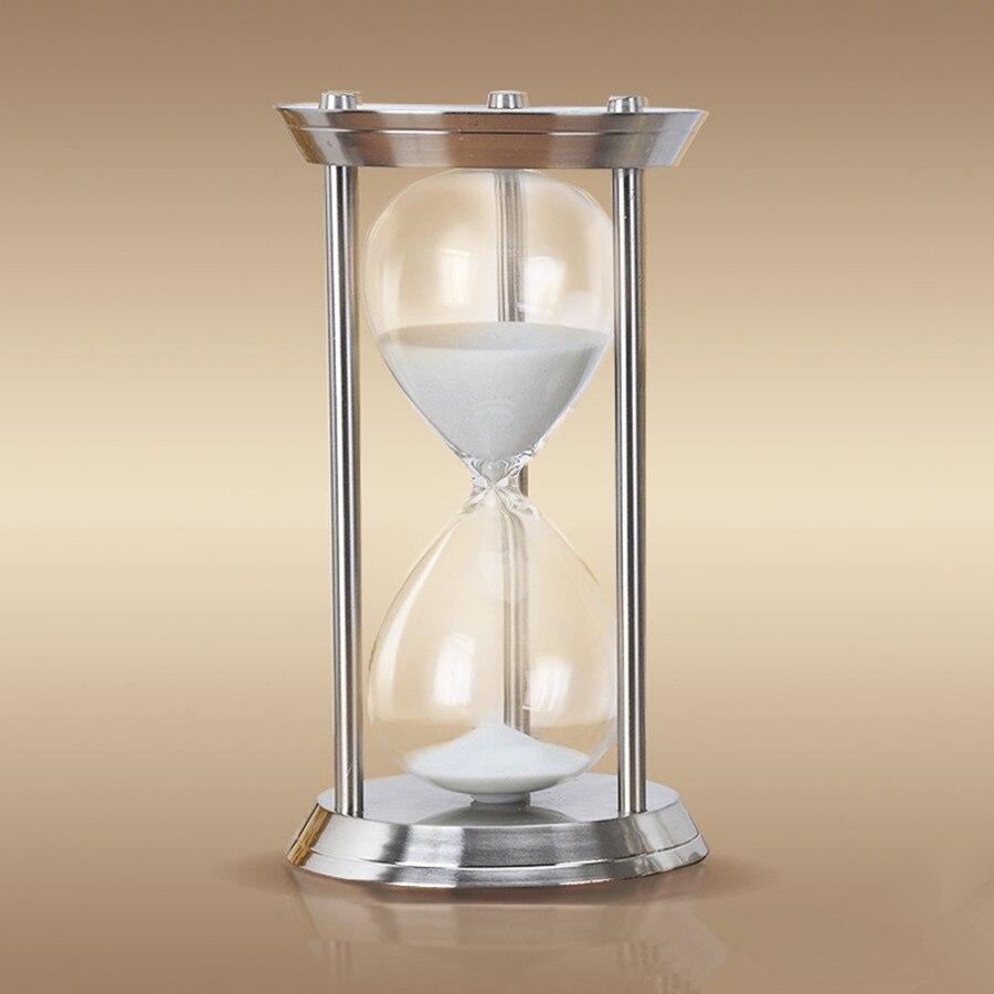 1 ساعة عالية الجودة المعادن كبيرة الرملية ساعة رملية 60 دقائق كبيرة الرملية El reloj دي الساحة Sablier La clessidra يموت sanduhr-في الساعات الرملية من المنزل والحديقة على  مجموعة 1