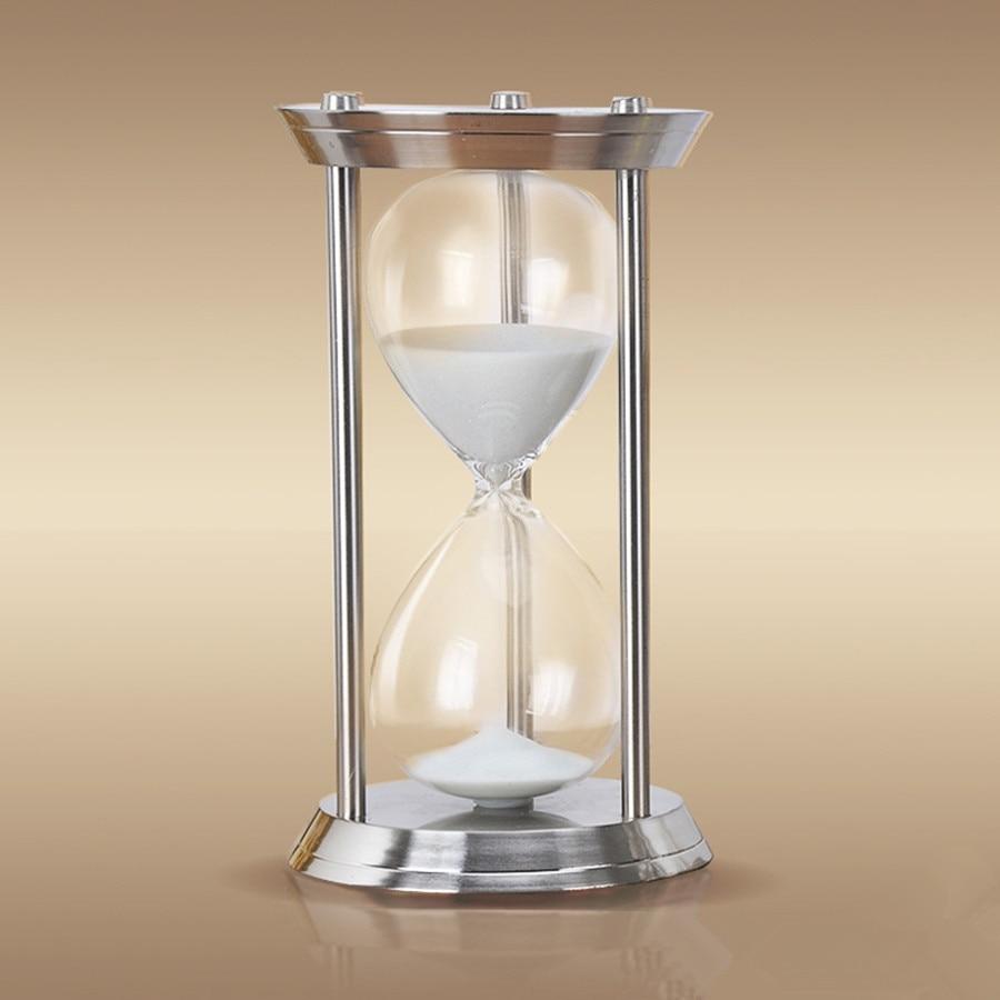 1 hora de alta calidad de metal reloj de arena grande reloj de arena - Decoración del hogar
