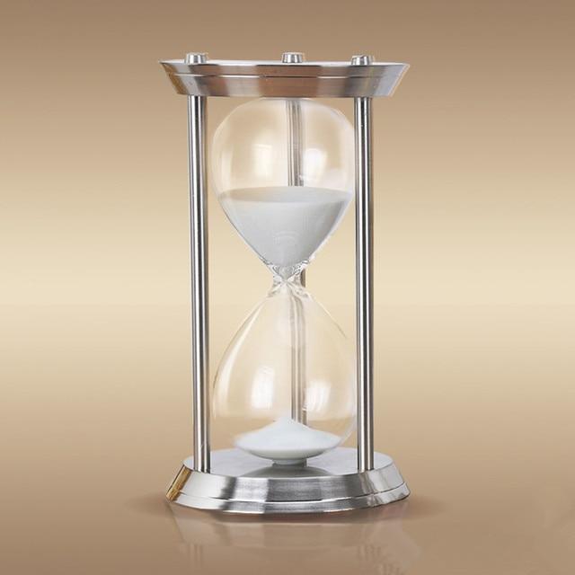 1 Hour High Quality Metal Hourgl Sand Timer 60 Minutes Large El Reloj De
