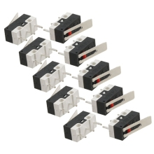 цена на 10 Pcs AC 125V 1A SPDT 1NO 1NC Momentary Long Hinge Lever Micro Switch