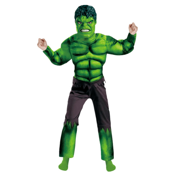 Child Avengers Hulk Muscle Surprise prijs Halloween-kostuums disfraces infantiles superhelden Carnaval Cosplay