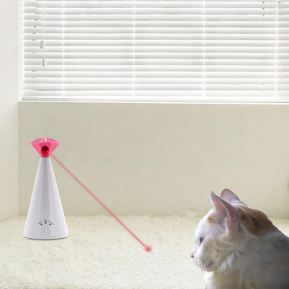 Interactive Cat Laser Toy Pet Pointer For Cats Automatic Rotating Catch Training