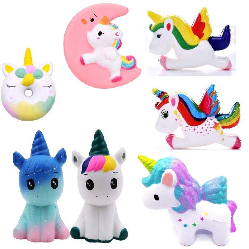 Jumbo Anti-stress Squishy Rainbow Unicorn Slow Rising Pressure Relief Kids Toy