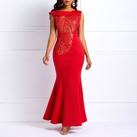 Clocolor Sequin Party Dress Elegant One Shoulder Sheath Bodycon Pleated Ruffle Peplum Evening Party Celebrity Tight Long Dress