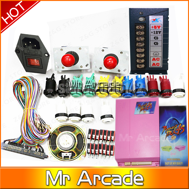 new arrival 815 in 1 Pandora's box 4s plus Classic box 815In1 DIY Bundles With Jamma Harness Joystick speaker power supply sanwa button and joystick use in video game console with multi games 520 in 1