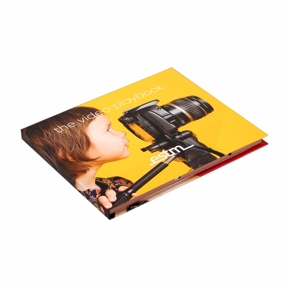 Customized full color printing high quality 7inch lcd screen video brochure for exhibition advertising wedding business