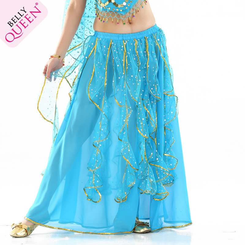 NEW! Chiffon Belly Dance Costumes Sexy Belly Dance Highlights Piece Skirt For Women Belly Dance Exercise Skirt