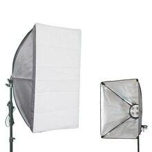 Quatro suporte da lâmpada + 50*70 Softbox photo studio 2 tipos de fonte de alimentação de tomada de Fundo Anti-rugas reflexivo tecido Fotografia