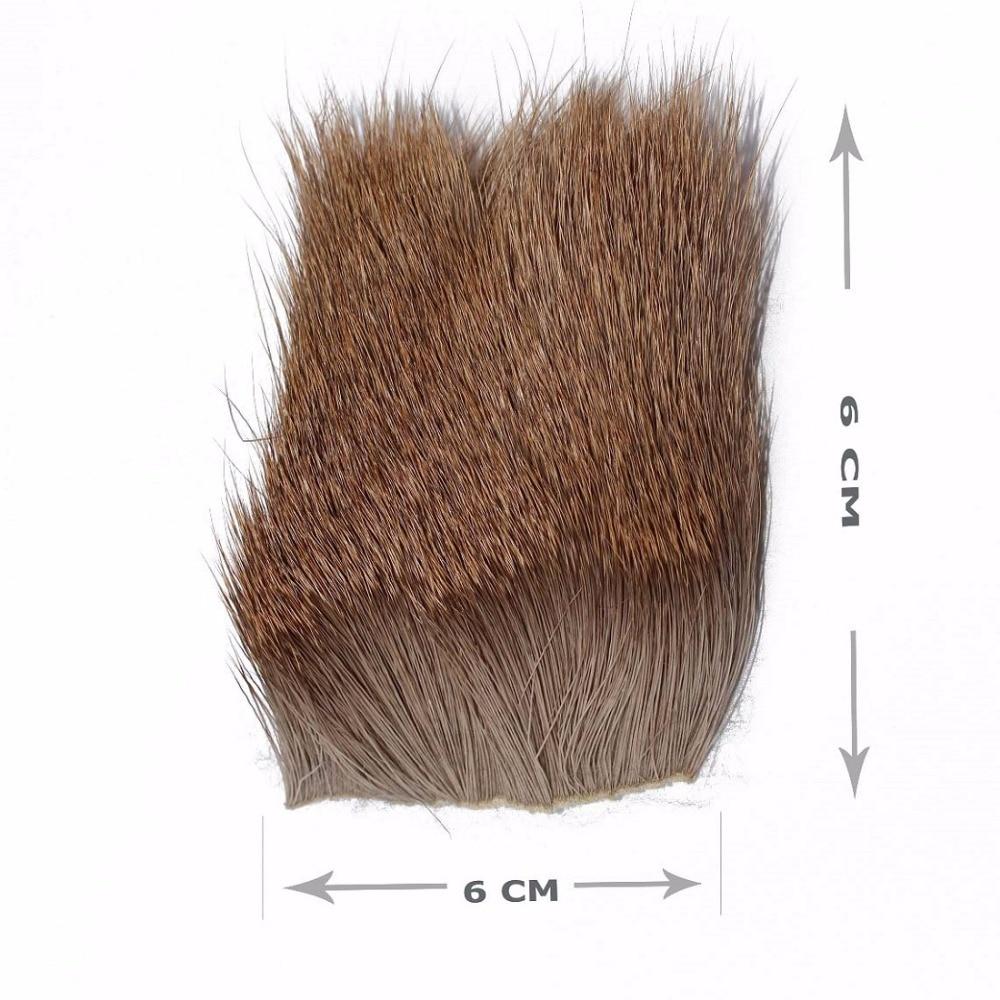 Tigofly 2 vnt / partija Elk kūno plaukai ilgas storas kailis 6cmX6cm - Žvejyba - Nuotrauka 2