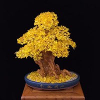 Natural citrine lucky tree Rich cash cow crystal tree tree Violet arenaceous town house feng shui furnishing