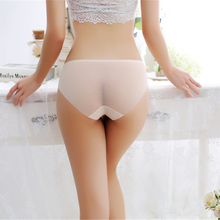 Sexy ladies underwear mesh transparent ultra-thin traceless low-rise briefs