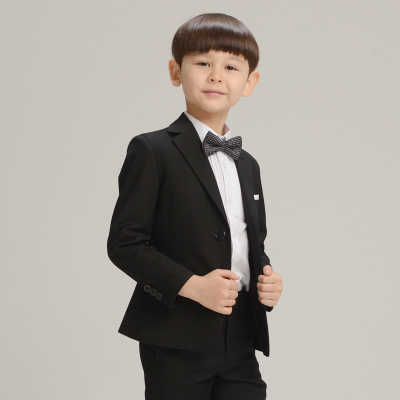 Children's suits Suit trousers bow tie shirt Full suit Tibetan blue Black Red Purple Lake Blue Yi Nuo Fang Children's Clothing huan nuo