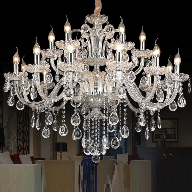 lampadario di cristallo Lampadario di cristallo moderno di lusso leggero Lampadario di cristallo Chambell di cristallo di illuminazione Champix superiore