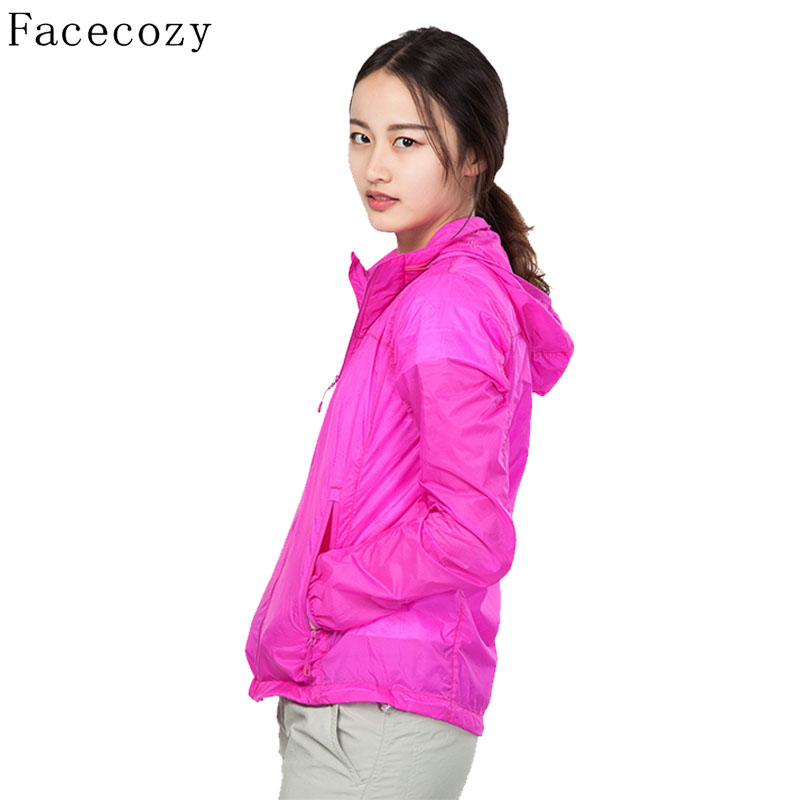 ФОТО Facecozy Women's Summer Outdoor Hooded Hunting&Climbing Shirt Quick Dry Breathable UV Resistant Camping&Hiking Coats