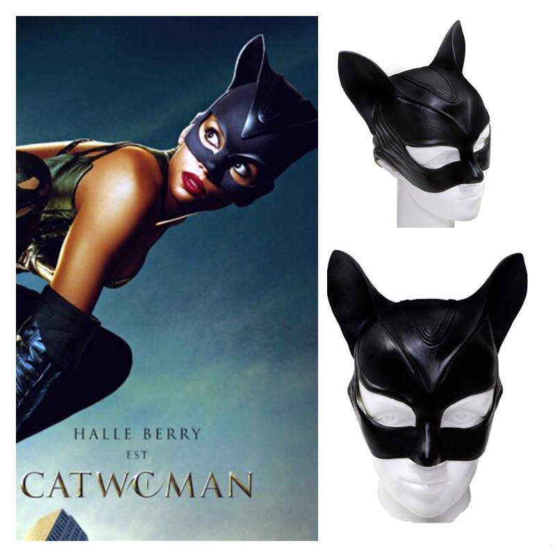 Anime Batman Catwoman Cosplay <font><b>Mask</b></font> <font><b>Sexy</b></font> Lady Girls Fancy Ball Sex Adult Role Playing Party <font><b>Halloween</b></font> Cosplay Props <font><b>Masks</b></font> New image