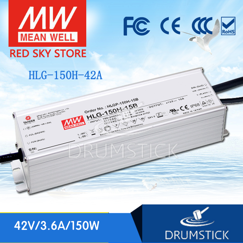 Best-selling MEAN WELL HLG-150H-42A 42V 3.6A meanwell HLG-150H 42V 151.2W Single Output LED Driver Power Supply A type