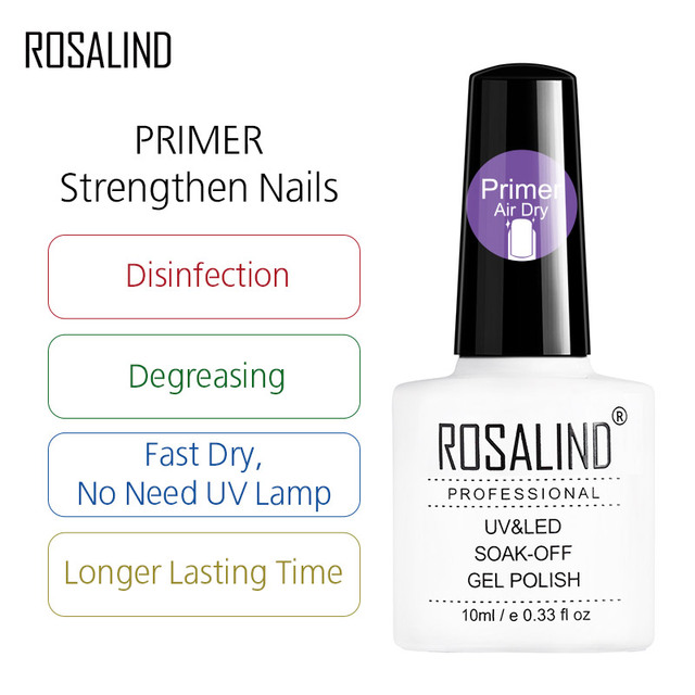 ROSALIND Gel Polish 1PCS UV Nail Art Nagellak Semi Permanent Soak off Manicure Gel Varnishes hybrid Nail Primer Gel Nail Polish