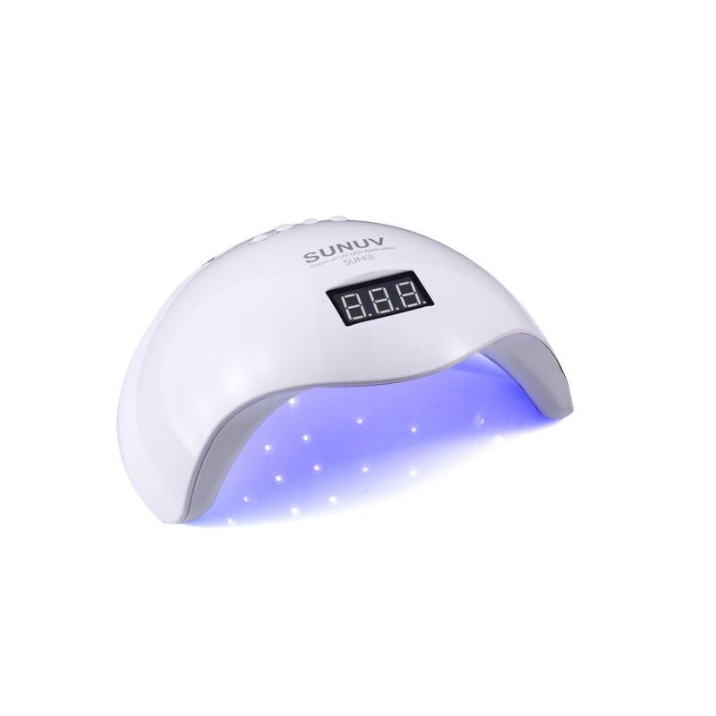 SUN5 48 W الأبيض ضوء المهنية LED و مصباح الأشعة فوق البنفسجية ل هلام آلة مستشعر الأشعة تحت الحمراء الموقت مجموعة هلام جميع الأشعة فوق البنفسجية هلام مسمار البولندية-في مجففات الأظافر من الجمال والصحة على  مجموعة 1