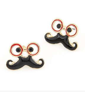 Ey157 1 Pair Exquisite Fashion Jewelry Retro Gles Beard Mustache Earrings Women Gift Whole 2017 In Stud From Accessories On