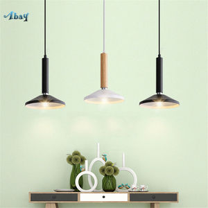 nordic wood tube led pendant lights for living room kitchen dining room home deco hanging lamp Minimalism modern light fixtures|Pendant Lights| |  -