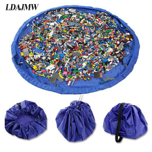 LDAJMW Hot Portable Waterproof Kids Children Infant Baby Play Mat Large Storage Bags Toy Organizer Blanket Rug Boxes Outdoor Pad