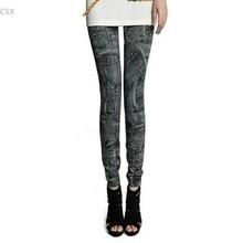 New Women's Jeggings Stretch Skinny Leggings Pencil Pants Casual Pocket Pattern denim Jeans free shipping 10