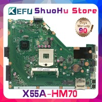 SHELI For ASUS X55A HM70 laptop motherboard tested 100% work original mainboard