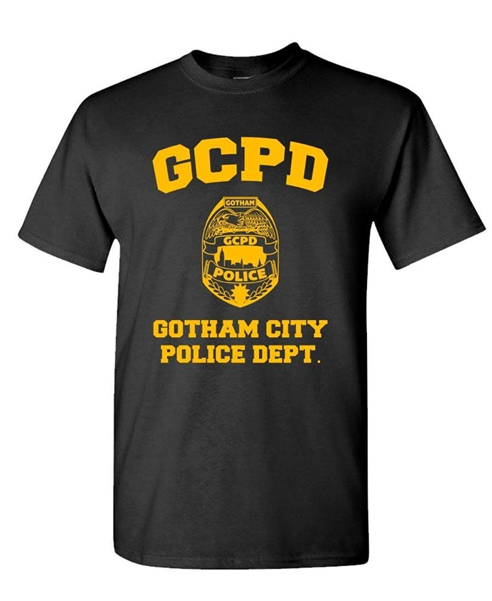 NEW Arrival GOTHAM CITY POLICE DEPT - arkham game - Men's Cotton T-Shirt Male Tees Casual Boy T-Shirt Tops Discounts T-shirts image