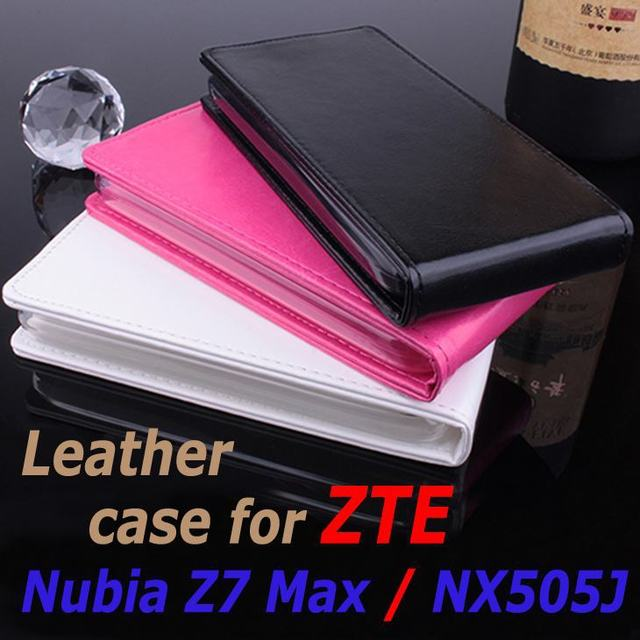 High Quality Leather Case For ZTE Nubia Z7 Max / NX505J Flip Cover Case housing ZTE Z 7 NubiaZ7 Max Leather Cover Phone Cases