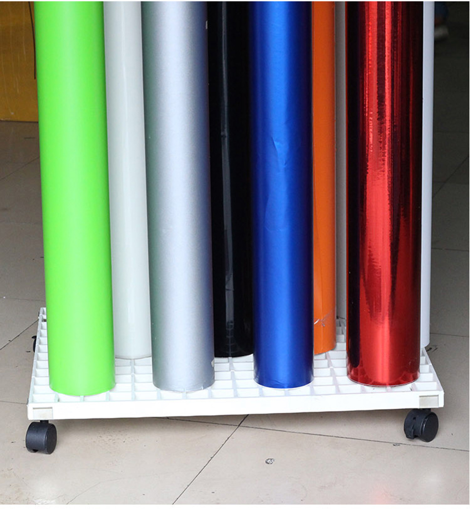 Image 1 - 61.5x46cm Car Wrapping Vinyl Roll Storage,movable vinyl roll holder Mobile vinyl rack roll storage rack MO 222 Free Shipping-in Car Stickers from Automobiles & Motorcycles