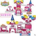 Wl7003 música taza de café con caja de música mecánica Turn Around 3D Building block sets juguetes para las niñas Bricks educación de bricolaje juguetes