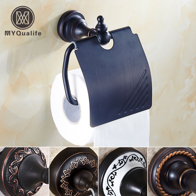 5- style Wall Molunted Roll Tissue Toilet Paper Holder Rack Bathroom Kitchen Paper Rack with Cover