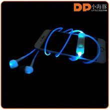 best products noise cancelling metal sport earphone color changing LED earphone for vivo xplay 5 smartphone