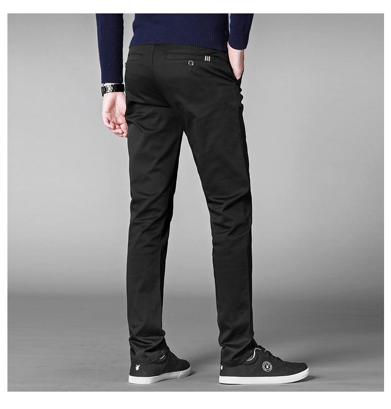 HTB1iOcvafvsK1Rjy0Fiq6zwtXXaF 4 Colors Casual Pants Men Classic Style 2019 New Business Elastic Cotton Slim Fit Trousers Male Gray Khaki Plus Size 42 44 46