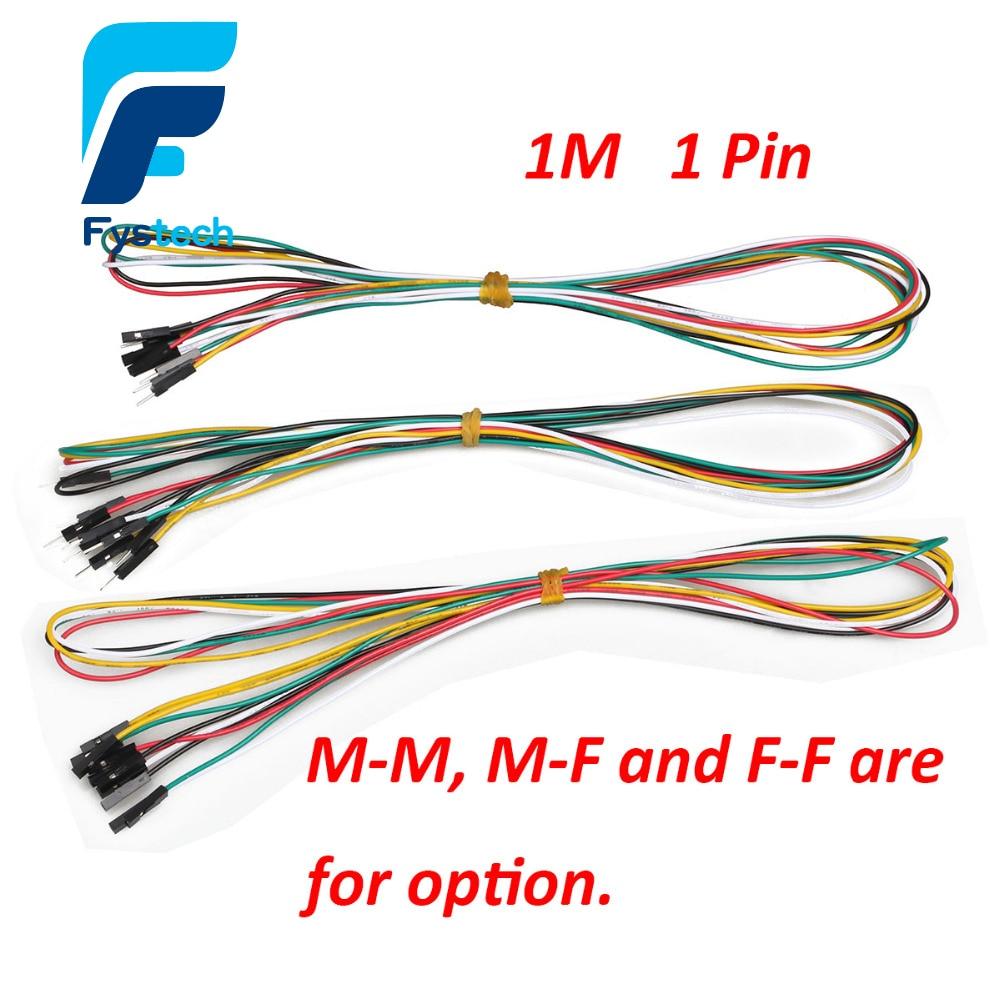 1M Breadboard Jumper Wires 20pcs/lot 1pin 100cm M-M M-F F-F 2.54mm DuPont Cable Line aeg f 65410 m