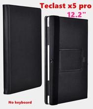 """Cubierta protecive shell del tirón de negocios para teclast x5 pro 12.2 """"tablet case pu leather case cubierta puede poner el teclado"""