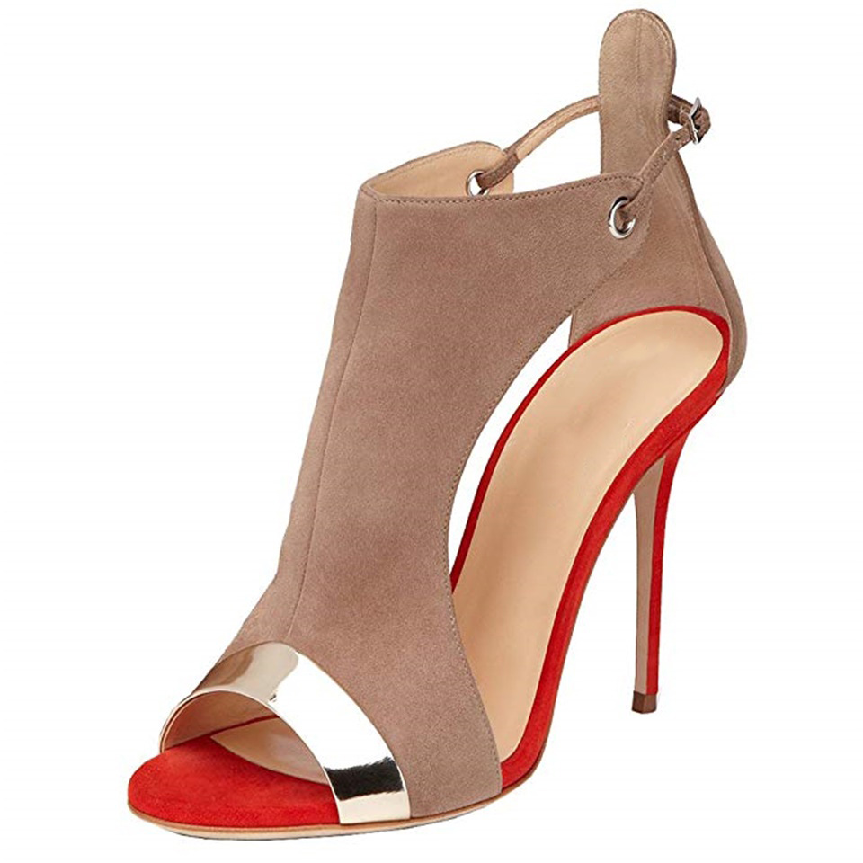 Summer fashion women 39 s sandals side air 12CM high heel shoes sexy open toe shoes women size 35 45 in High Heels from Shoes