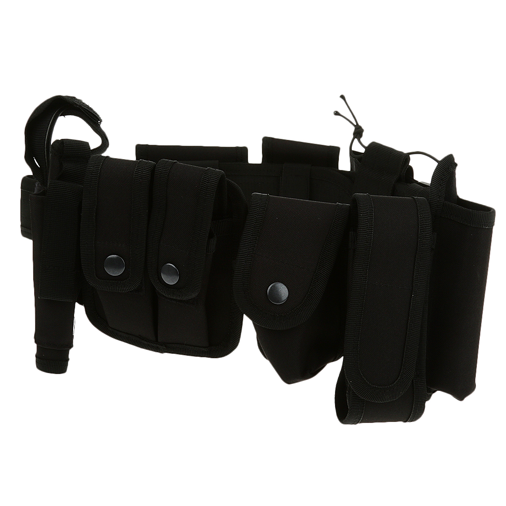 Image 5 - Utility Belt Waist Bag Pouch Mens Security Police Guard Patrol Kit with Radio Holster Tools for outdoorMens Belts   -