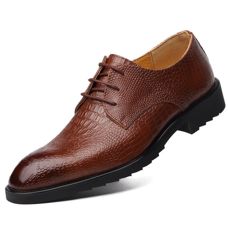 brown Oxford Brun Pour De Chaussures Hommes Travail Cuir Noir Alligator Formelle En Les Robe Black wqSWI6PTgx