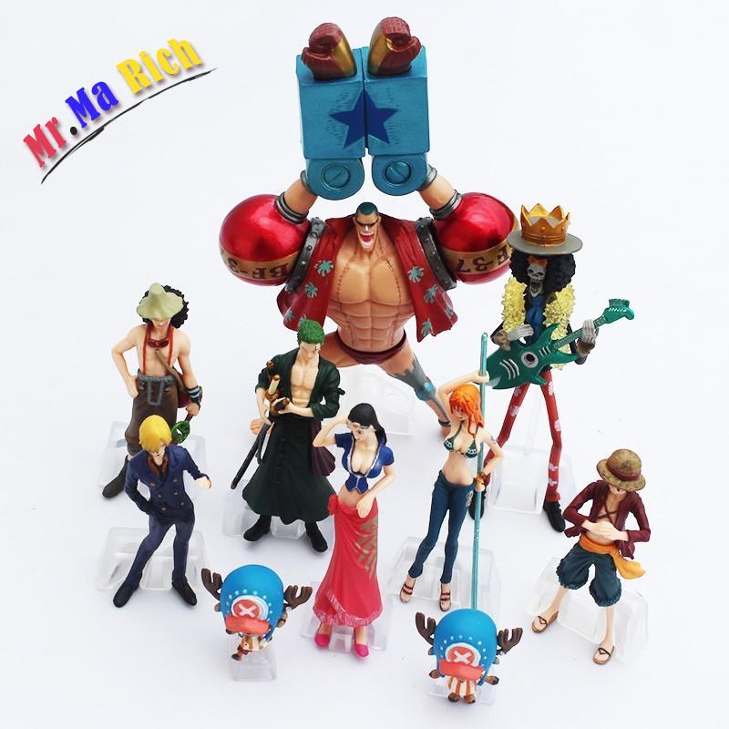 OnePiece Action Figure Giocattoli Rufy Nami Roronoa Modello Bambole Del Fumetto Anime In Pvc Ragazzi Migliore Regalo 10Pz/set
