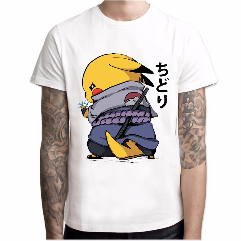 2019-new-arrival-t-shirt-men-font-b-pokemon-b-font-naruto-pikachu-crossover-printing-short-sleeve-casual-tee-shirts-hipster-funny-tops
