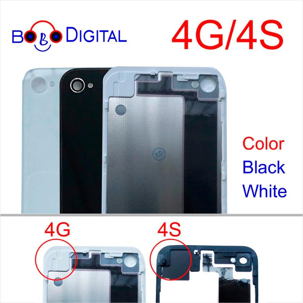 Cases Housing-Battery Back-Cover Phone-Glass Door AAA for 4 4G 4S Genuine Apple Black